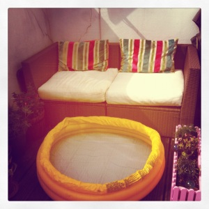 Our Roof Terrace with paddling pool - perfect way to cool down!