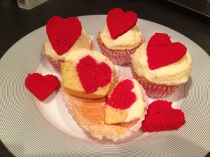 Image of Secret Valentine's Cupcakes with Champagne frosting recipe