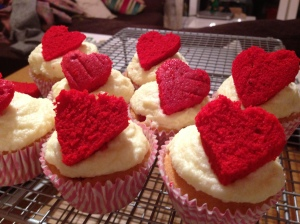 Secret Valentine Cupcakes with Champagne Frosting recipe